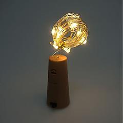 お買い得  LED アイデアライト-brelong 1 pc 8ledワインボトル銅線ランプ