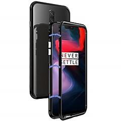 お買い得  その他のケース-ケース 用途 OnePlus OnePlus 6 耐衝撃 / 磁石バックル バックカバー ソリッド ハード メタル のために OnePlus 6