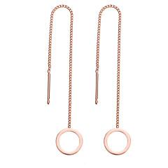 preiswerte Ohrringe-Damen Kubikzirkonia Stilvoll Tropfen-Ohrringe - Grundlegend, Modisch Gold / Silber Für Alltag / Zeremonie