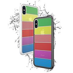 Недорогие Кейсы для iPhone 7 Plus-Кейс для Назначение Apple iPhone X / iPhone 8 Защита от удара Кейс на заднюю панель Однотонный Твердый Закаленное стекло для iPhone X / iPhone 8 Pluss / iPhone 8