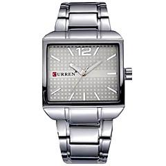 preiswerte Herrenuhren-Herrn Armbanduhr Chronograph / Armbanduhren für den Alltag / Cool Edelstahl Band Armreif / Minimalistisch Schwarz / Silber