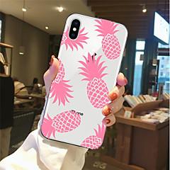 Недорогие Кейсы для iPhone 6 Plus-Кейс для Назначение Apple iPhone X / iPhone 8 Прозрачный / С узором Кейс на заднюю панель Фрукты Мягкий ТПУ для iPhone X / iPhone 8 Pluss / iPhone 8