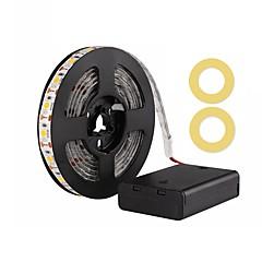 abordables Tiras LED Flexibles-ZDM® 2m Tiras LED Flexibles 120 LED SMD5050 Blanco Cálido / Blanco Fresco / Rojo Impermeable / Decorativa / Auto-Adhesivas Pilas AA alimentadas 1 juego
