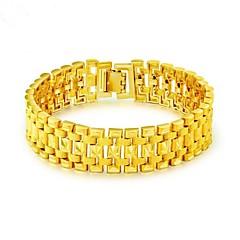 abordables Bijoux pour Femme-Homme Stylé Chaînes & Bracelets - Or 18 Carats Créatif Mode Bracelet Or Pour Soirée Quotidien