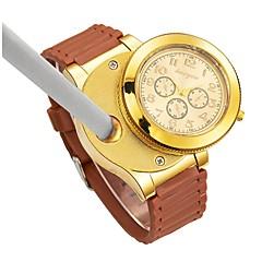 お買い得  メンズ腕時計-男性用 リストウォッチ 日本産 クォーツ クロノグラフ付き クリエイティブ 新デザイン ラバー バンド ハンズ ぜいたく バングル ブラック / ブラウン - Brown ブルー 2年 電池寿命 / 大きめ文字盤