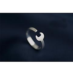 preiswerte Ringe-Paar Stilvoll Öffne den Ring - S925 Sterling Silber Schlüssel Stilvoll, Einfach Verstellbar Silber Für Alltag Strasse