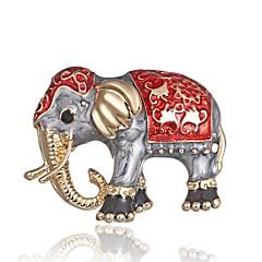 abordables Broches-Mujer Clásico / Elegante Broche - Elefante Elegante, Clásico Broche Dorado Para Diario