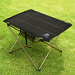abordables Camas de Camping-Mesa para camping Al aire libre Portátil, Ligeras, Plegable Aluminio para Pesca / Senderismo / Playa Negro