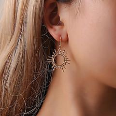 abordables Bijoux pour Femme-Femme Creux Boucles d'oreille goutte - Soleil simple, Décontracté / Sport, Coréen Or / Noir / Argent Pour Fête / Soirée Cadeau Quotidien