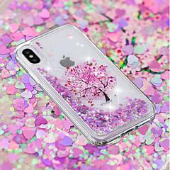 Недорогие Кейсы для iPhone 5-Кейс для Назначение Apple iPhone X / iPhone 8 Plus Движущаяся жидкость / Прозрачный / С узором Кейс на заднюю панель Бабочка / Цветы Мягкий ТПУ для iPhone X / iPhone 8 Pluss / iPhone 8