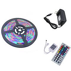 お買い得  LED ストリングライト-HKV 5m フレキシブルLEDライトストリップ / ライトセット 300 LED 3528 SMD 1 44キーリモコン / 1 x 2A電源アダプタ RGB カット可能 / 接続可 / ノンテープ・タイプ 100-240 V