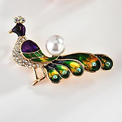 cheap Brooches-Women's Classic / Stylish Brooches - Peacock Stylish, Classic Brooch Gold For Daily