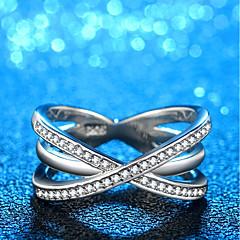preiswerte Ringe-Damen Stilvoll / Übergang Bandring - Platiert, Diamantimitate Schleife Modisch, Koreanisch, Elegant 6 / 7 / 8 Silber Für Alltag / Arbeit