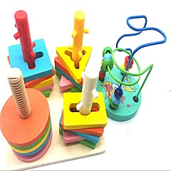 abordables Juguetes de la matemáticas-Ábaco Colegio / El modelo geométrico Creativo De madera / Compuestos de madera y plástico 2 pcs Piezas Niño / Elemental Regalo