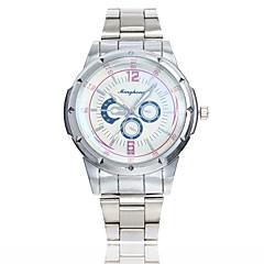 preiswerte Herrenuhren-Herrn Kleideruhr / Armbanduhr Chinesisch Armbanduhren für den Alltag / Großes Ziffernblatt Legierung Band Freizeit / Modisch Silber