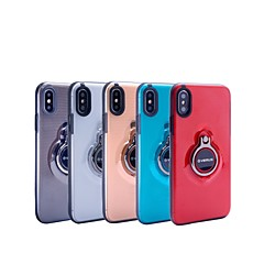 abordables Fundas para iPhone X-Funda Para Apple iPhone X / iPhone 8 Plus con Soporte / Soporte para Anillo / Traslúcido Funda Trasera Armadura Dura ordenador personal para iPhone X / iPhone 8 Plus / iPhone 8