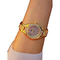 お買い得  レディース腕時計-女性用 リストウォッチ クロノグラフ付き / 光る / カジュアルウォッチ 合金 バンド バングル / エレガント ゴールド