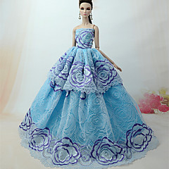 abordables Ropa para Barbies-Princesa Vestidos por Muñeca Barbie  Tela de Encaje Organdí Vestido por Chica de muñeca de juguete