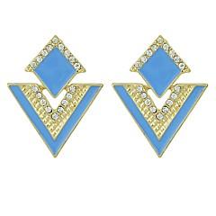 preiswerte Ohrringe-Damen Kristall Stilvoll Ohrstecker - Glücklich Grundlegend, Modisch Gelb / Blau / Rosa Für Alltag / Verabredung