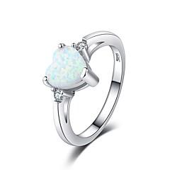 preiswerte Ringe-Damen Kubikzirkonia Stapel Ring - Platiert Herz Romantisch, Koreanisch 6 / 7 / 8 Weiß Für Verlobung