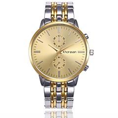 preiswerte Herrenuhren-Herrn Kleideruhr / Armbanduhr Chinesisch Armbanduhren für den Alltag / Imitation Diamant Legierung Band Freizeit / Modisch Schwarz / Weiß / Beige