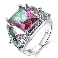 preiswerte Ringe-Damen Kubikzirkonia Stilvoll Ring - S925 Sterling Silber Mehrfarbig 6 / 7 / 8 / 9 / 10 Regenbogen Für Party Geschenk