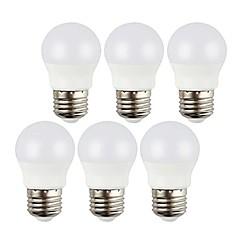 preiswerte LED-Birnen-6pcs 3 W 400 lm E26 / E27 LED Kugelbirnen 6 LED-Perlen SMD 5050 Dekorativ Warmes Weiß / Kühles Weiß 220-240 V