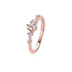 preiswerte Ringe-Damen Kristall Klassisch Stilvoll Ring Schwanzring - Diamantimitate Blume Einfach, Koreanisch, Süß, nette Art Weiß / Grün / Rosa Für Alltag Ausgehen Klub