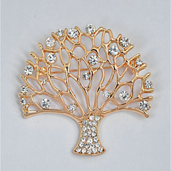 cheap Brooches-Women's Hollow Out Brooches - Tree of Life Stylish, Classic Brooch Gold For Daily