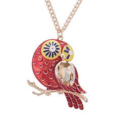preiswerte Halsketten-Damen Stilvoll / Lang Anhängerketten - Eule Europäisch, nette Art, Mehrfarbig Rot, Blau, Dunkelgrün 60 cm Modische Halsketten Schmuck 1pc Für Party, Normal