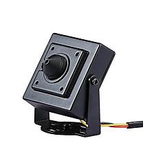 abordables Sistemas CCTV-HD ahd 2.0mp star mini cctv monitor de video cámara de seguridad cuadrada de metal negro 3.7mm tamaño de lente 34mm * 34mm