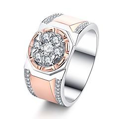 preiswerte Ringe-Paar Klassisch Ring - Platiert, Rose Gold überzogen, Diamantimitate Kreativ Klassisch, Gothic 7 / 8 / 9 Rotgold Für Geschenk / Professionell