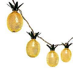preiswerte LED Lichtstreifen-1pc 1,5 m led string lichter für hawaiian party diy dekoration tropfen 10 stücke ananas string lichter für geburtstagsparty hochzeit