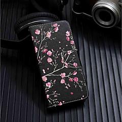 Недорогие Чехлы и кейсы для Huawei серии Y-Кейс для Назначение Huawei Y6 (2018) / Y6 (2017)(Nova Young) Кошелек / Бумажник для карт / со стендом Чехол Цветы Твердый Кожа PU для Huawei Y6 (2018) / Huawei Y6 (2017)(Nova Young) / Huawei Y5 (2018)