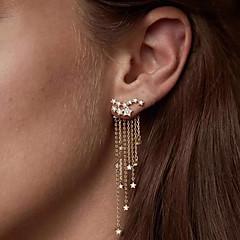 preiswerte Ohrringe-Damen Quaste Tropfen-Ohrringe - Diamantimitate Stern Europäisch nette Art Elegant Schmuck Silber / Golden Für Party Verabredung 1 Paar