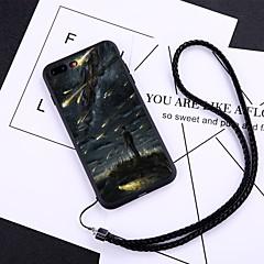 Недорогие Кейсы для iPhone-Кейс для Назначение Apple iPhone X / iPhone 8 Plus Защита от пыли Кейс на заднюю панель Мультипликация Твердый Закаленное стекло для iPhone X / iPhone 8 Pluss / iPhone 8