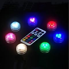 preiswerte Ausgefallene LED-Beleuchtung-BRELONG® 1pc LED-Nachtlicht Knopf Batteriebetrieben Wasserfest / Ferngesteuert / Einfach zu tragen <5 V