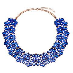 お買い得  ネックレス-女性用 スタイリッシュ ステートメントネックレス  -  ドロップ ぜいたく, 欧風, 誇張 グレー, ブルー 36 cm ネックレス ジュエリー 1個 用途 パーティー, 誕生日