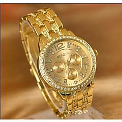 preiswerte Armbanduhren für Paare-Damen Paar Sportuhr Japanisch Quartz Armbanduhren für den Alltag Großes Ziffernblatt Legierung Band Analog Freizeit Modisch Silber / Gold / Rotgold - Gold Silber Rotgold