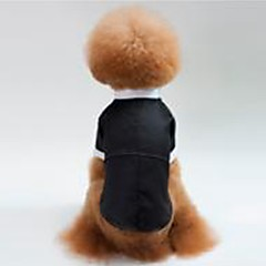 お買い得  犬用ウェア&アクセサリー-犬用 / 猫用 タキシード 犬用ウェア ソリッド ブラック コットン コスチューム ペット用 男女兼用 パーティー/イブニング / 結婚式