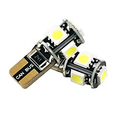 preiswerte LED Autobirnen-1 paar feuerfeste isolierte platine 2,5 watt can-bus t10 led-lampe weiße farbe leichtigkeit