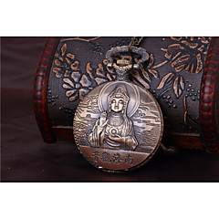 お買い得  レディース腕時計-男性用 カップル用 懐中時計 クォーツ ブロンズ カジュアルウォッチ クール ハンズ ヴィンテージ カジュアル - 青銅色
