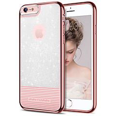 voordelige iPhone-hoesjes-bentoben hoesje voor apple iphone 8 plus / iphone 7 plus / iphone 6 plus plating / ultra dunne / glitter shine achterkant effen gekleurde zachte tpu / pc voor iphone 8 plus / iphone 7 plus / iphone 6s
