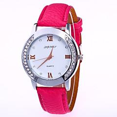 preiswerte Damenuhren-Damen Armbanduhr Quartz Armbanduhren für den Alltag Imitation Diamant PU Band Analog Modisch Mehrfarbig Schwarz / Weiß / Blau - Grün Hellblau Khaki