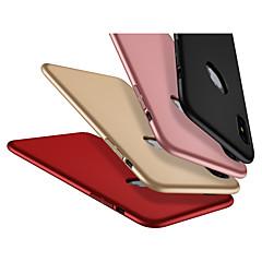Недорогие Кейсы для iPhone-Кейс для Назначение Apple iPhone X Защита от пыли Кейс на заднюю панель Однотонный Твердый Углеродное волокно / ПК для iPhone X