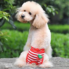 お買い得  犬用ウェア&アクセサリー-犬用 / 猫用 パンツ 犬用ウェア ストライプ / 果物 ホワイト / レッド / ブルー コットン コスチューム ペット用 女性 スウィート / ユニーク
