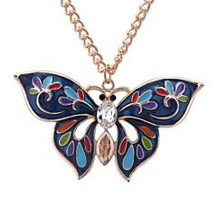 preiswerte Halsketten-Damen Vintage Stil / Lang Charme - Schmetterling Einzigartiges Design, Süß Anhänger Weiß / Rot / Gold / Weiß / Weiss - Grün Für Geburtstag / Ausgehen