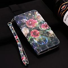 Недорогие Чехлы и кейсы для Xiaomi-Кейс для Назначение Xiaomi Mi 8 / Mi 6 Кошелек / Бумажник для карт / со стендом Чехол Цветы Твердый Кожа PU для Redmi Note 5A / Xiaomi Redmi Note 4X / Xiaomi Redmi Note 4