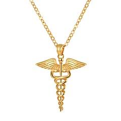 お買い得  ネックレス-女性用 ペンダントネックレス  -  ステンレス鋼 ゴールド, ブラック, シルバー 55 cm ネックレス ジュエリー 1個 用途 贈り物, 日常