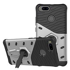Недорогие Чехлы и кейсы для Xiaomi-Кейс для Назначение Xiaomi Mi 5X Защита от удара / со стендом Кейс на заднюю панель Однотонный Твердый ПК для Xiaomi Mi 5X